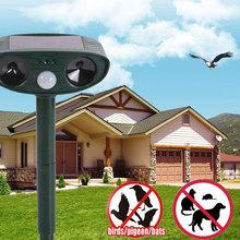 High Quality Ultrasonic Dog Repeller Solar Cat Repeller Chaser Garden Fox Deterrent Animal Scarer Deterrent Repellent(China (Mainland))
