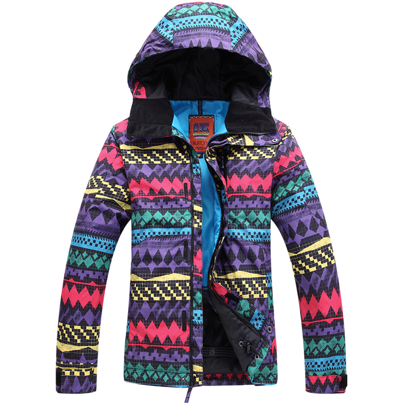 Dropshipping Fashion Women Ski Suit Professional Female Jacket women Windproof Waterproof Breathable snowboard jackets - Credit Discount Outdoor store