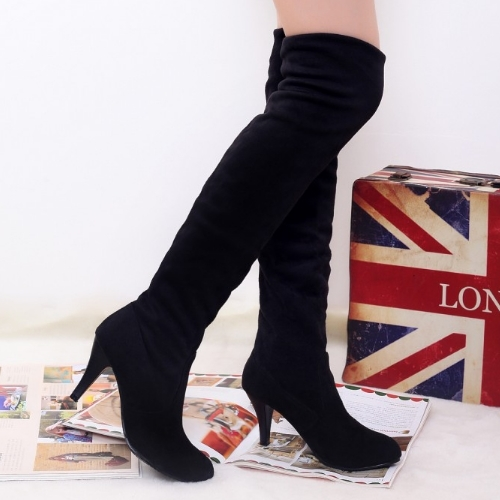 Drop Shipping Thin High Heels Platform Fall And Winter Over The Knee High Boots For Female Sexy Casual Long Boot(China (Mainland))