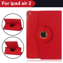 Luxury 2016 For Apple iPad Air 2 iPad 6 Case 360 Rotating Jean Fabric Leather Smart Cover For iPad Air 2 TPU Back Case Separable(China (Mainland))