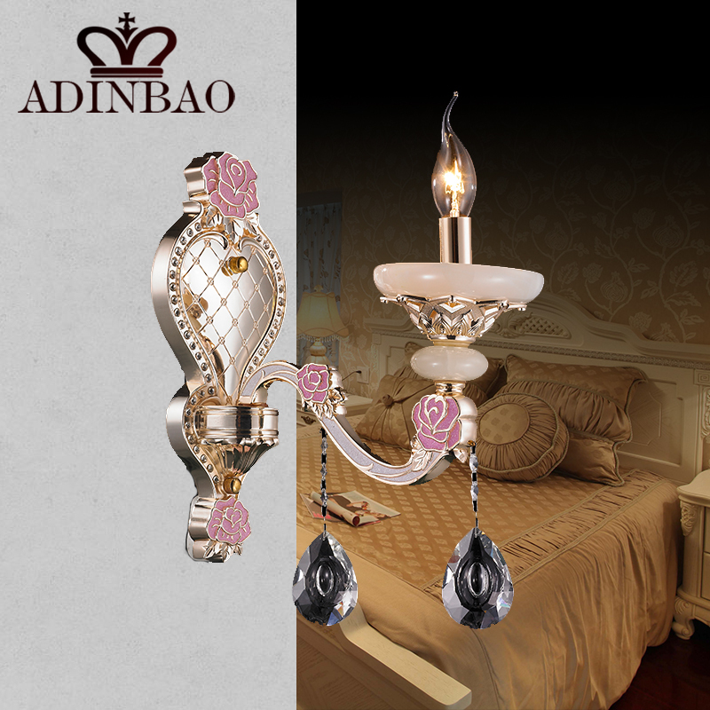 Delicate Pink Wall Lamp K9 Crystal Wall Sconce Lighting Candle Led Wall Light For Wedding 8527 1 ...