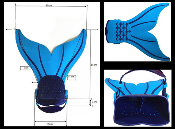 Top sale Original 2015 monoaleta Swimmable Blue Kids Girl Boy Mermaid Tail scuba Diving flippers Swimming Fins Mermaid Monofin(China (Mainland))
