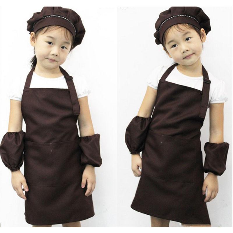 Popular Children Kitchen Baking Painting Apron Baby Art Cooking Craft Bib New(China (Mainland))