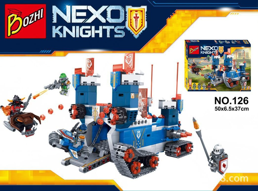 Nexo Knights Fortrex Moving Castle Marvel Nexus Building Blocks Kids Toys Christmas Gift Minifigures Compatible Legoe 70317  -  Luck Love Baby Toy Store store