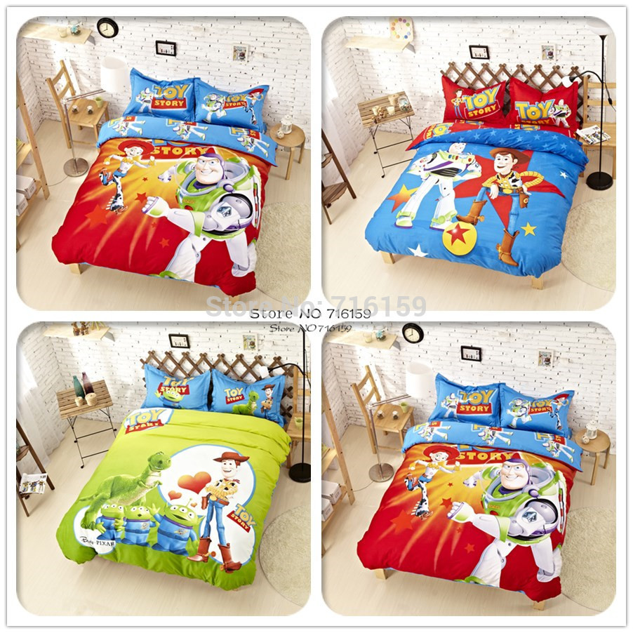 Toy Story COTTON bedding set cartoon kid/child bed sheet sets Princess wholesale comforter cover twin/single/double/queen/king(China (Mainland))