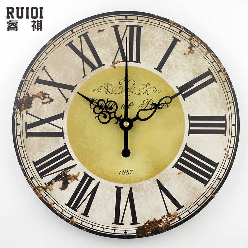 home decoration roman numeral wall clock silent living