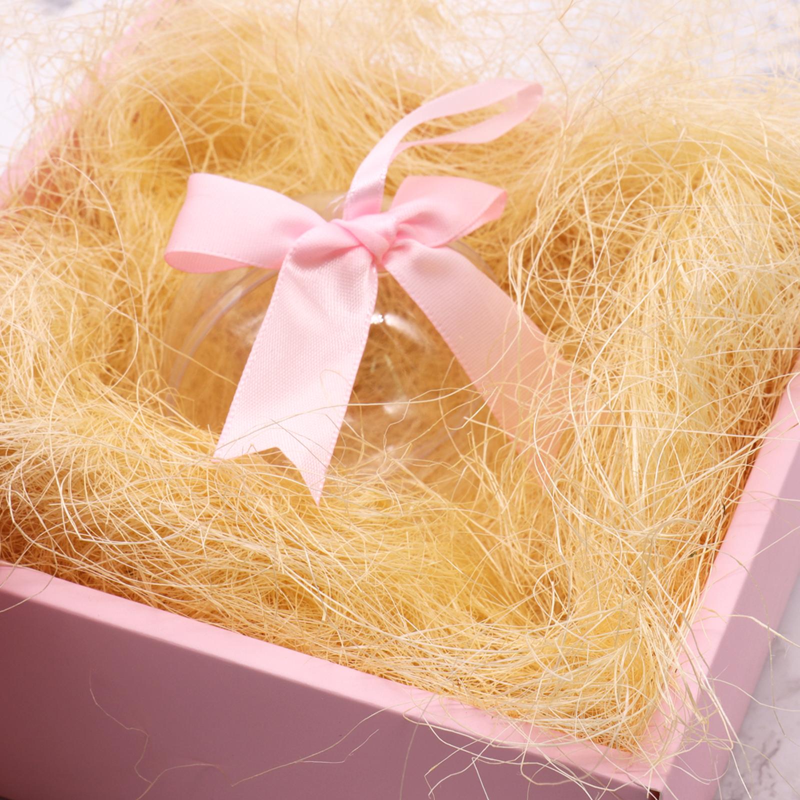 Natural Jute Silk Gift Wrap Box Filler Packing Material Confetti DIY Gifts