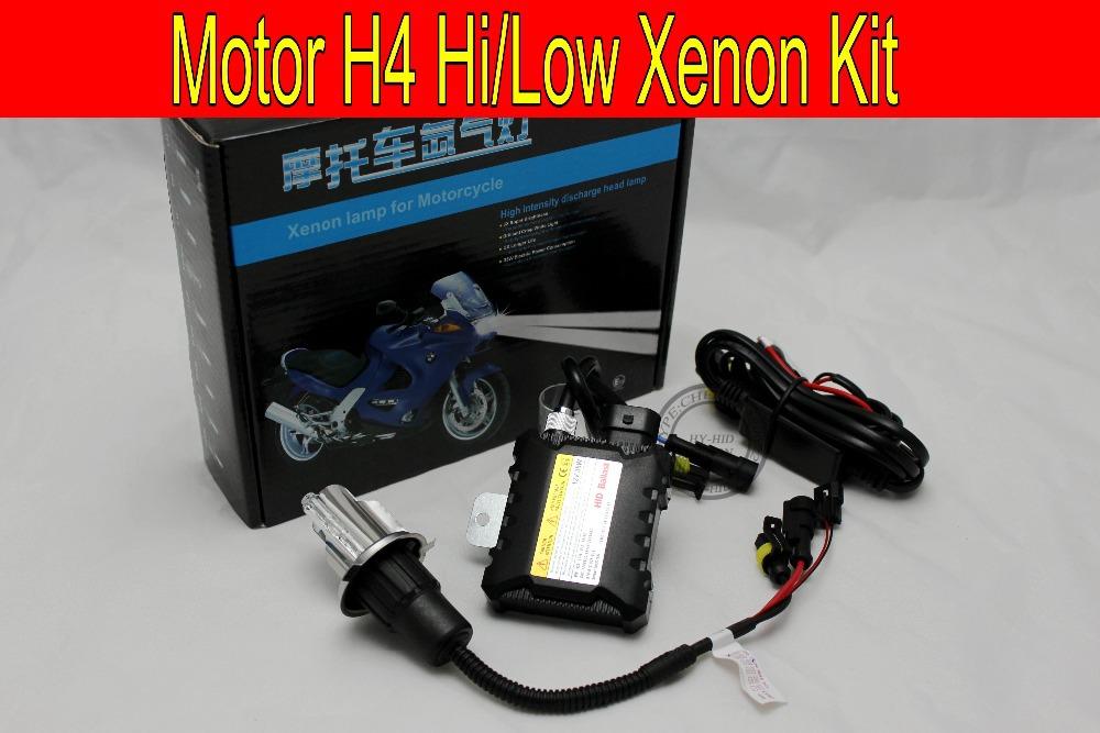 Free Shipping Hot SALE 35W H4 Hi/low bi xenon Motorcycle HID Xenon Kit,3000K,4300K,6000K,8000K,10000K,HID Conversion Kit(China (Mainland))