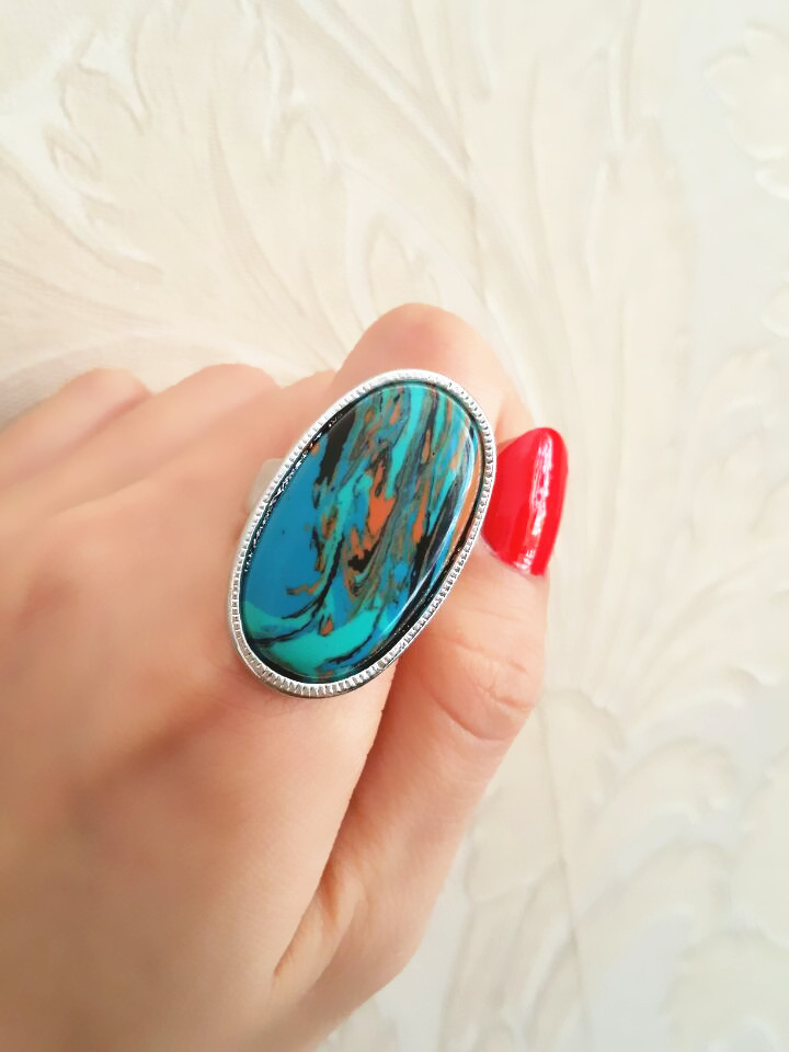Malachite ring, the fate of stone, each of the natural texture are different, mind don't buy, jewelery gift in box ALW1561(China (Mainland))