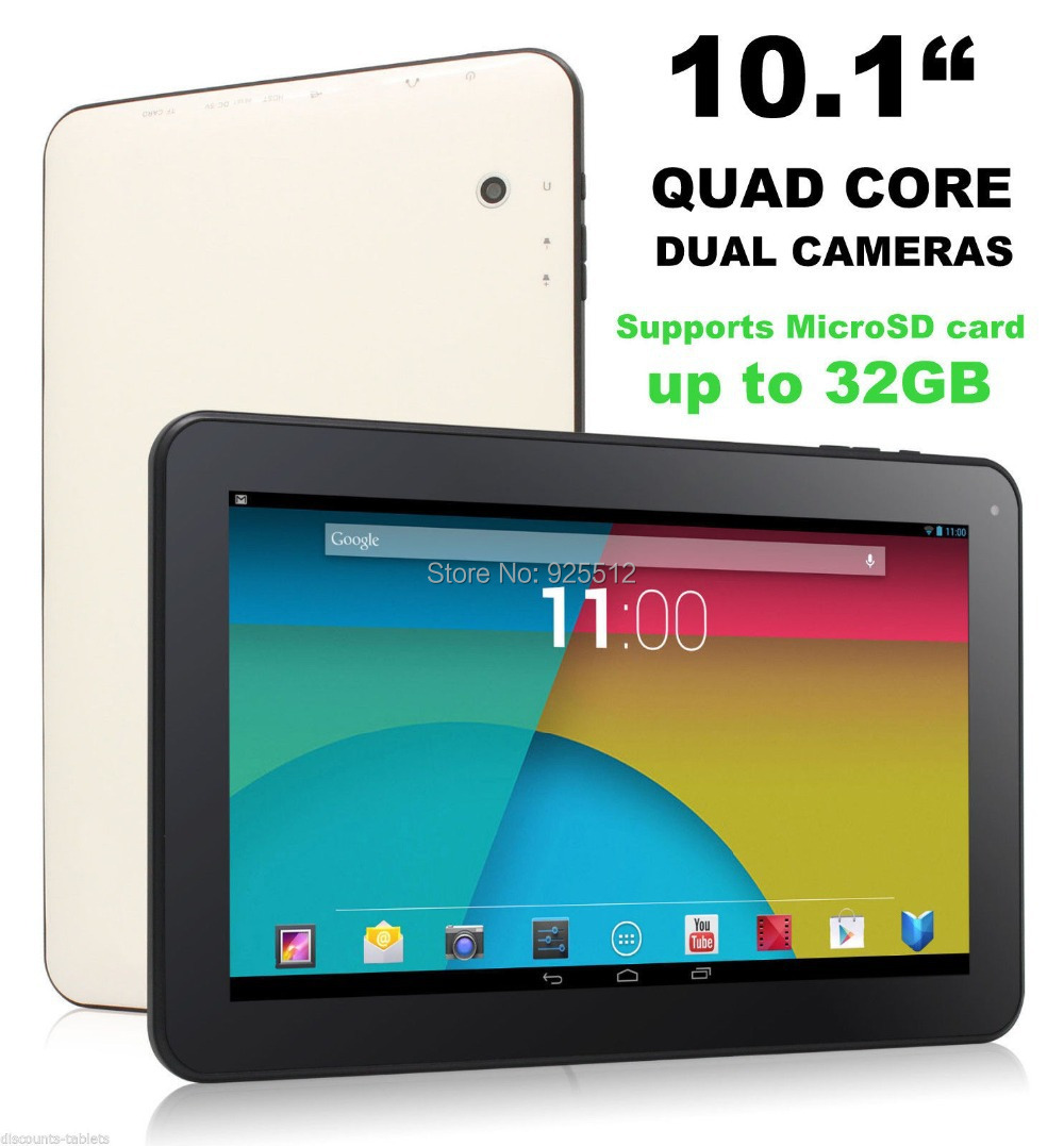 Cheapest TABLET PC Allwinner A33 Quad Core Android 4.4 tablet 10 inch Wifi Bluetooth Dual Cameras 1024*600 Screen(China (Mainland))