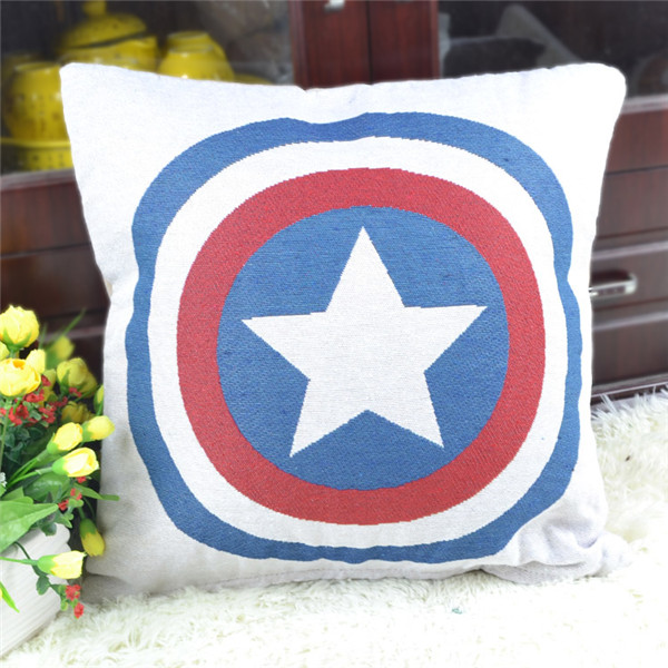 ZLHD American England Flag Printed Square Cushion cover Customized Design for Client Cartoon flags Linen cotton Cushions(China (Mainland))
