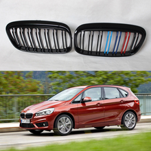 Buy 2015UP F45 3Color M Style Double slat ABS Black Auto Front Bumper Mesh Grill Guard BMW 2 Series Acutive Tourer F45 for $131.46 in AliExpress store