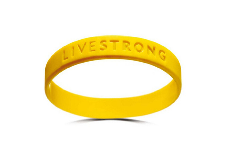 Motivational Bracelets concave lettering adults adolescent yellow non-toxic silica gel LIVE STRONG Wristband(China (Mainland))