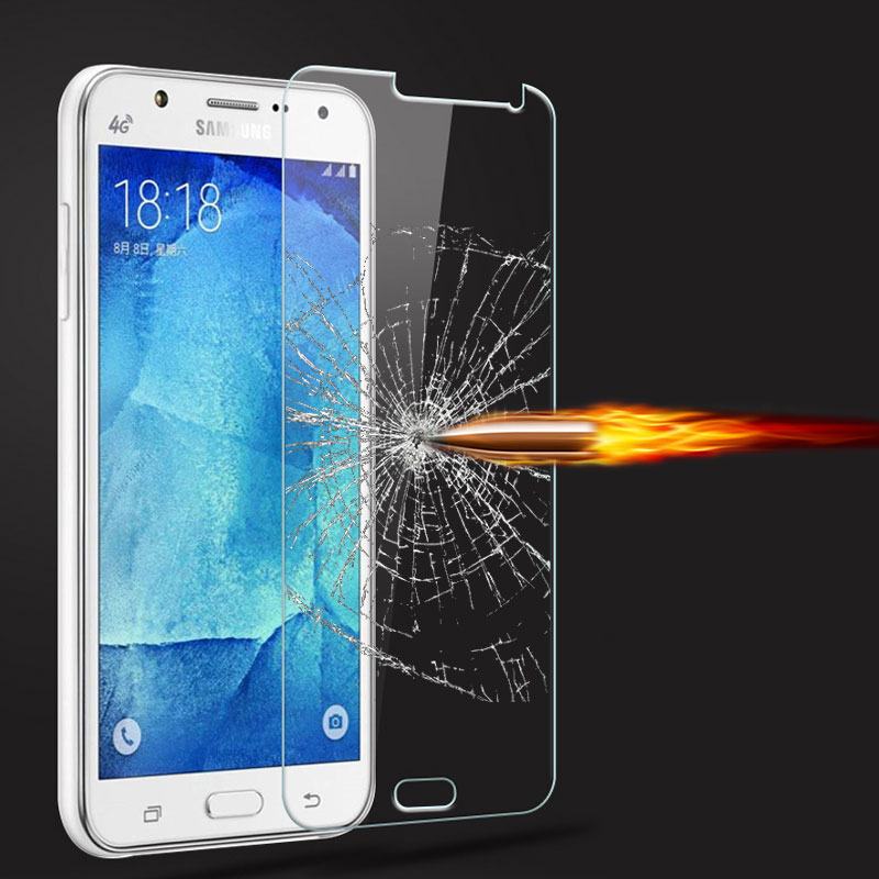 9H Tempered Glass Screen Protector Film for Samsung Galaxy J7 J7008 J700F + Alcohol Cloth + Dust Absorber(China (Mainland))