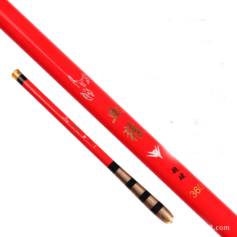 superhard Ultralight red 1.8 - 5.4 m specials Carbon carp fishing rod hand rods stream pole vara de pesca para carretilha(China (Mainland))