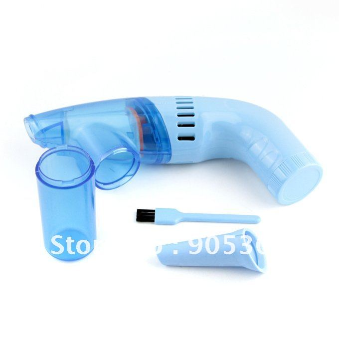 New Household Mini-Vac Hand Held Dry Cell Battery Vacuum Cleaner Car Blue Mini Electric Bagless(Hong Kong)