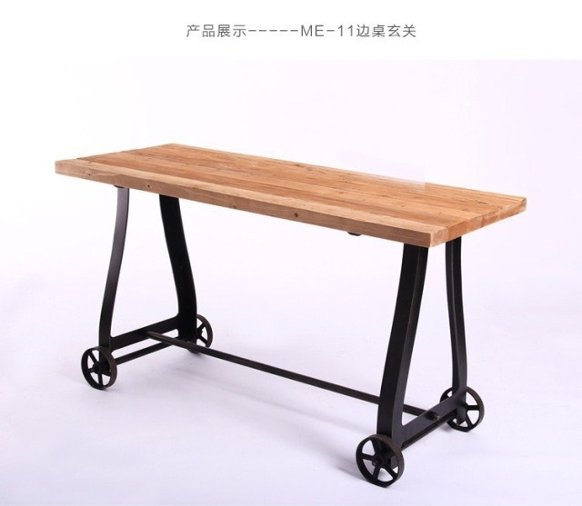 foreign trade of industrial iron wood furniture