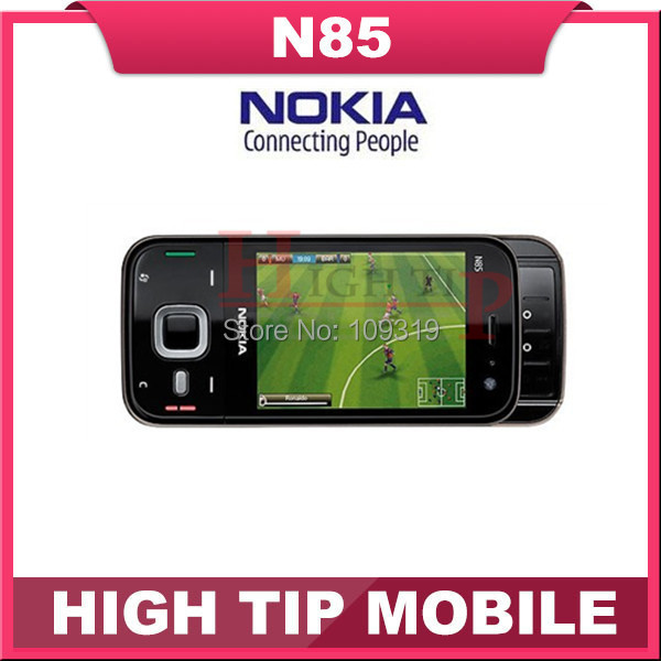 Free shipping Nokia brand Unlocked Original N85 5MP Camera, GPS phone , bluetooth, wi-fi 1 year warranty Refurbished(China (Mainland))