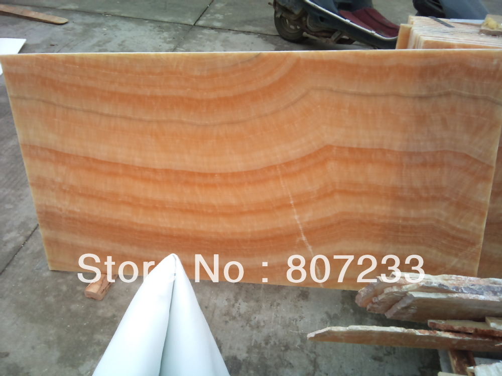Honey Onyx Slab : Yellow honey onyx slab in marble from home improvement on