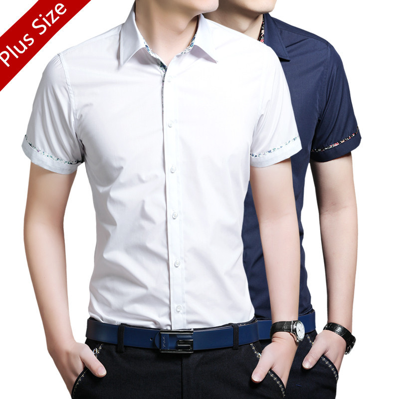 new arrival summer mens solid color casual shirt male
