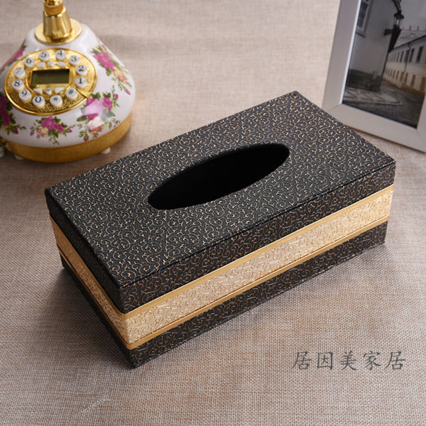 Buy luxury rectangle pu leather pumping for 1 case of table paper