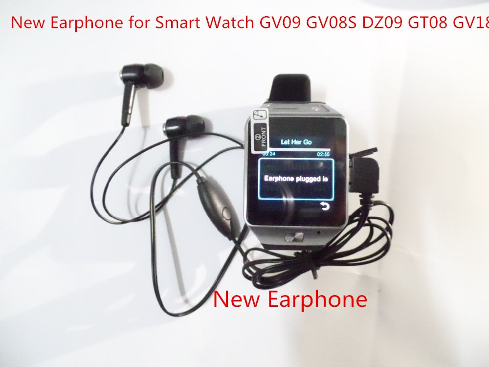 Smart Watch Earphone in-ear Headsets Earbud Micro USB Plug Wired Earpiece for Smart Watch DZ09 GT08 GV09 GV18 GV08S smartwatch