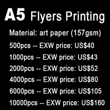 A5 flyers printing, print  A5  leaflets, paper printing, full color, print both sides(China (Mainland))