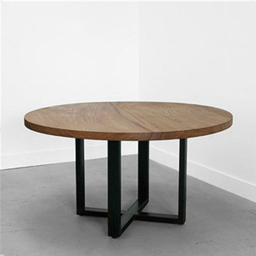American retro to do the old wrought iron cafe tables and - Circular dining room tables ...
