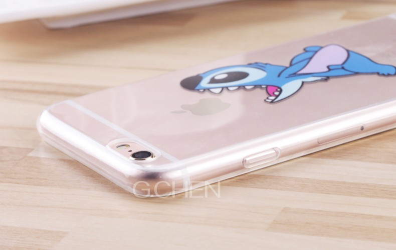 Case For Apple iPhone 5 5S SE 6 6S 4.7″Back Cover New Stitch Funny cute cartoon Stitch Pattern Phone Cases Clear TPU Soft