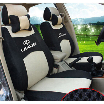 grey/red/beige/blue 4 color Embroidery logo Car Seat Cover Front&Rear complete 5 Seat For lexus ES IS GS GX LS CT LX RX RC F NX(China (Mainland))
