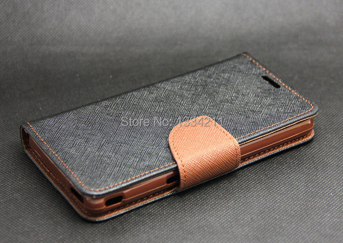 Luxury Black + Brown Wallet Leather Skin Flip Tpu Case Cover Stand Sony Xperia ZR M36h C5502 - LULU CASE store
