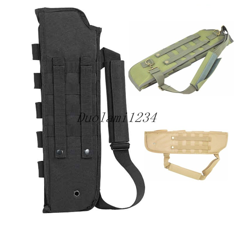 Sports bag Tactical Breacher's Hunting Shotgun Scabbard Molle With Shell Pouch For Short Barrel Hunting Bags & Holsters(China (Mainland))