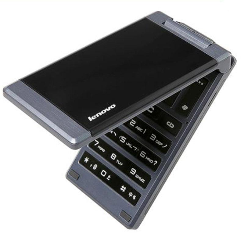 Original Lenovo MA388 Flip Business Mobile Phone 3.5'' MTK6250 Dual SIM Dual Standby Camera Bluetooth FM GSM for Elders Old Man(China (Mainland))
