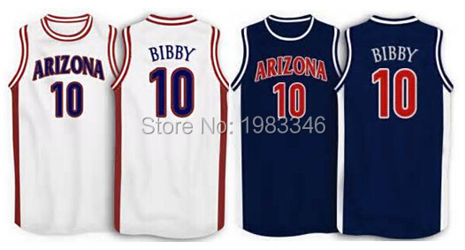 #10 Mike Bibby Arizona Wildcats basketball Jersey navy blue,white,stitched custom name and number S-5XL Jerseys free shipping