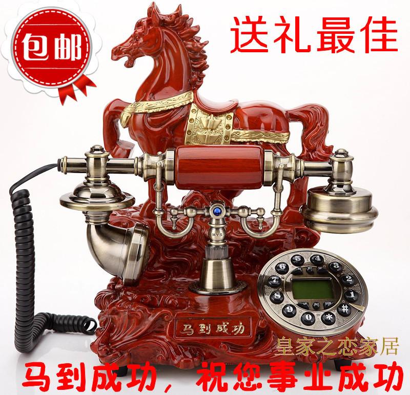European antique telephones fashion high-grade imitation wood Madaochenggong old villa retro phone landline shipping(China (Mainland))