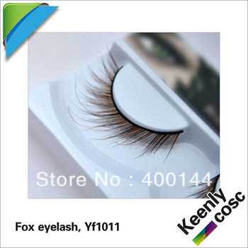 2013 hot sale, free shipping, hand-made natural Fox fur false eyelashes