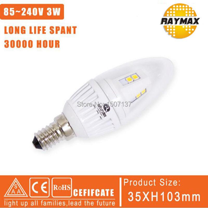 promotion! LED E14 bulb Candle Light 3w chandelier crystal application Lamp e14 led AC85~240V warm white led light bulb 1pcs/lot(China (Mainland))