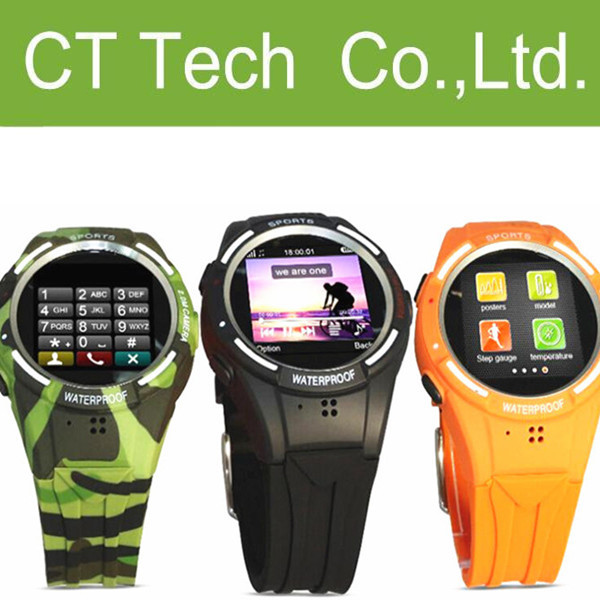 TW320 Smart Watch Phone Waterproof Ultra-thin Mini Watch Mobile Phone Java QQ Facebook Pedometer For Sport health Calorie Test(China (Mainland))