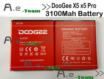 100% Original DOOGEE X5 Battery 3100mAh Replacement accessory accumulators For DOOGEE X5 Pro Phone + Free Shipping + in stock