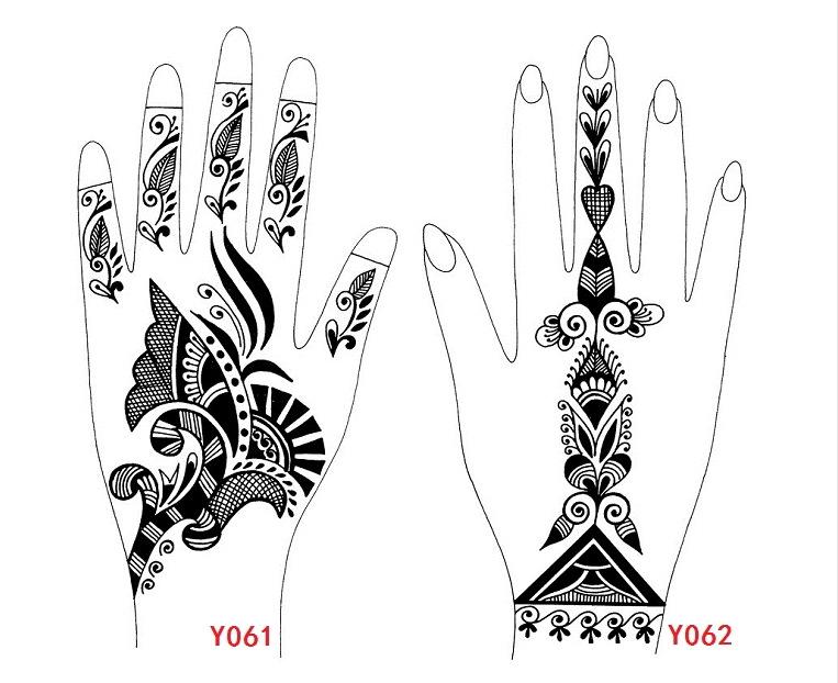 Moldes de tatuajes con henna Imagui