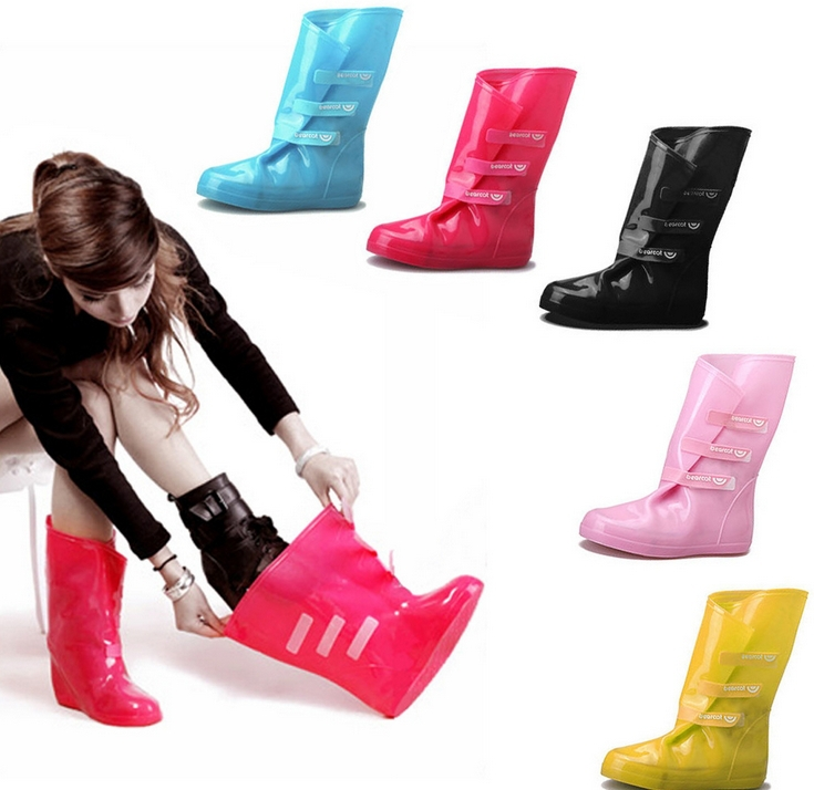Rubber Boots Slip Over Shoes