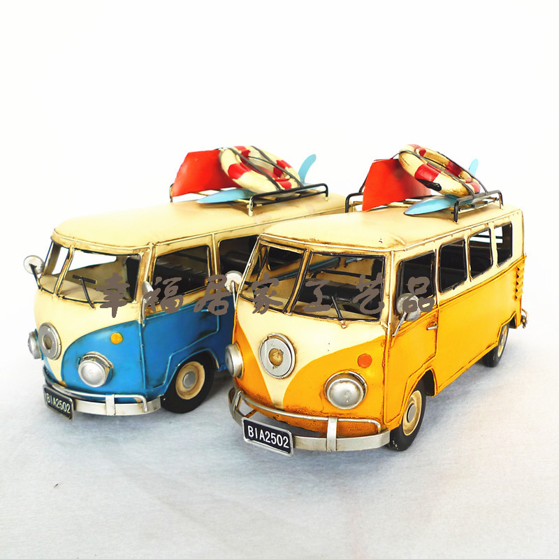 Vintage bus volkswagen model bus antique model of the bus metal classic cars model birthday gift #free shipping(China (Mainland))