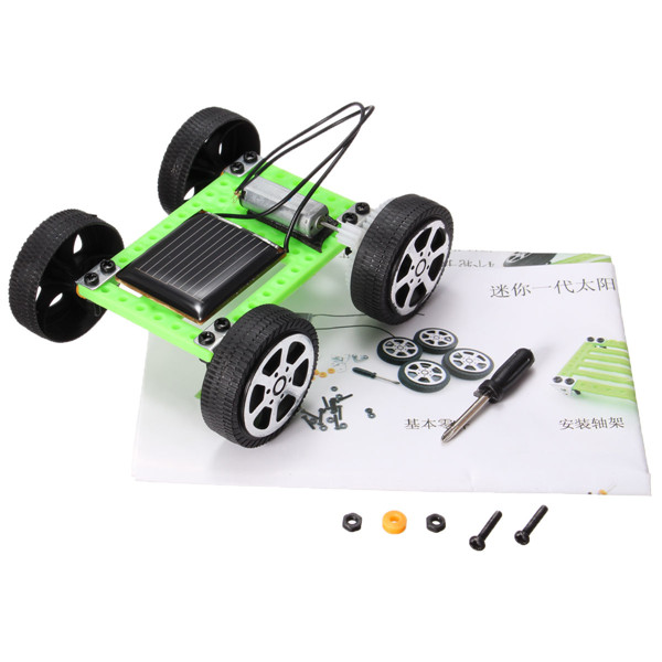 Assembly Mini Solar Powered Toy DIY Car Kit Children Gift Educational Puzzle IQ Gadget Hobby Robot Newest 8x7.5x3.2 cm(China (Mainland))