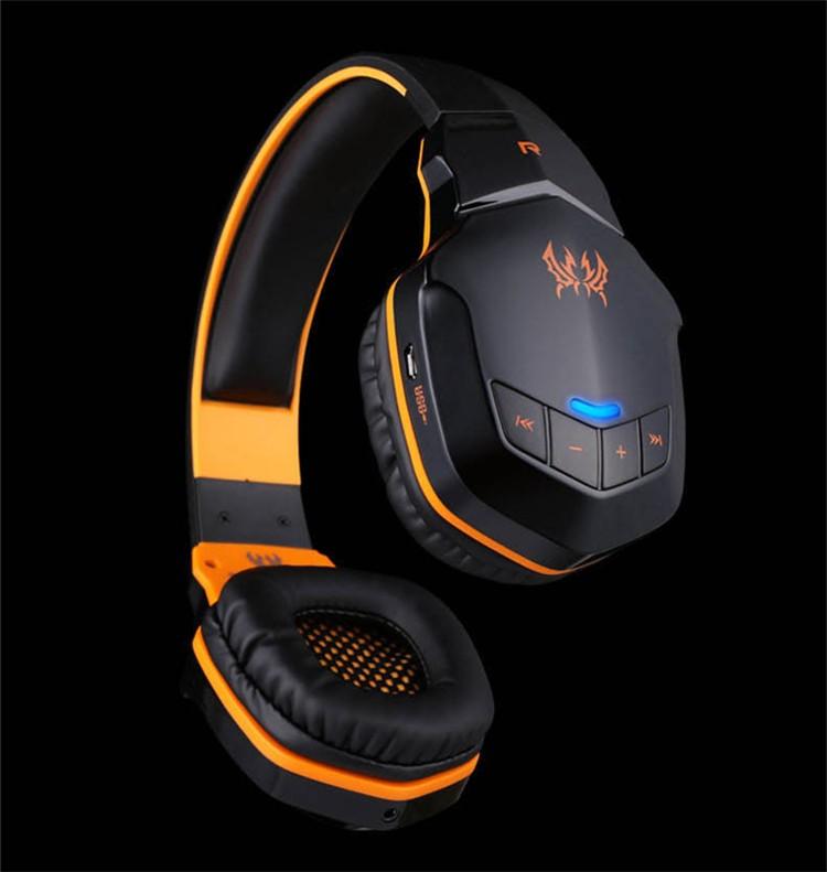 Hot EACH Bluetooth Headset Headphones Luminous With Mic/microphone Led Light Built-in NFC 50mm Speaker Diameter Casque Audio
