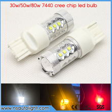 Buy 2x T20 7440 w21/5w w21w CREE Chip Bulb White/Yellow/Red Auto Car LED Brake Light Reverse Turn Signal Light DC12V 24V for $11.52 in AliExpress store