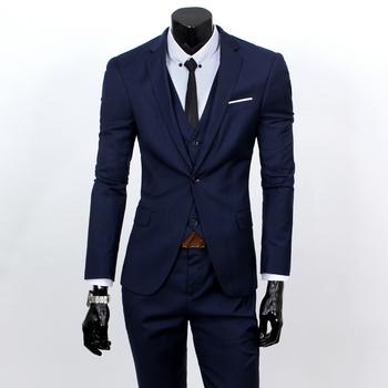 ( Жилет + костюм + брюки ) мужчины в три частей официальный пиджак костюм / вилочная часть костюм из бизнес костюмы