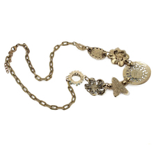 2015 New Arrival Fashion Jewelry Vintage Women Necklaces Pendants Link Chain Necklace Round Flower Gem Pendant