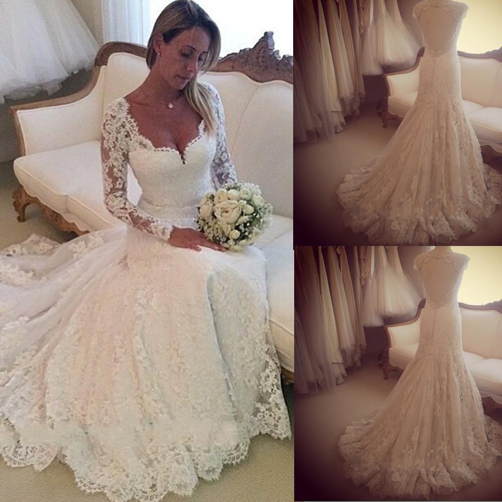 Bare Back Wedding Dress Turmec Lace Long Sleeve Open Dresses 4354 By Flagyl2016