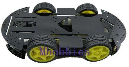 Free shipping Brand New  4WD Robot chassis Magic car robot mobile platform<br><br>Aliexpress