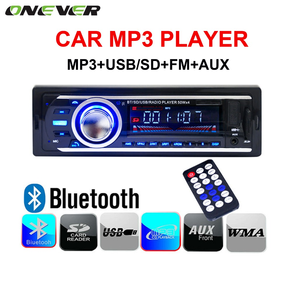 2016 new 12V Car tuner Stereo bluetooth FM Radio MP3 Audio Player Phone USB/SD MMC Port Car radio bluetooth tuner In-Dash 1 DIN(China (Mainland))